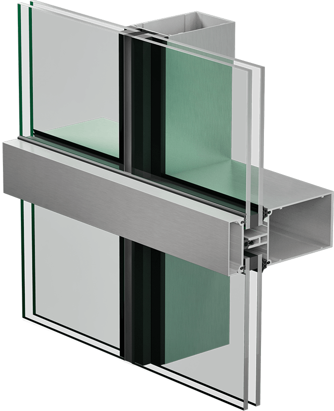 3400 E+ STD curtain wall