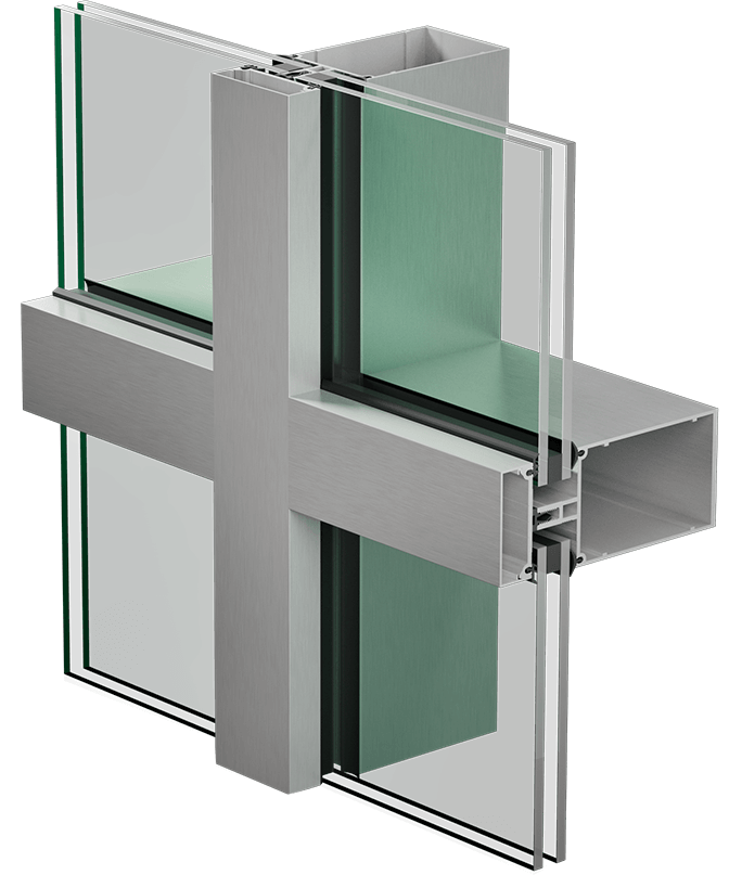 3400 regular curtain wall