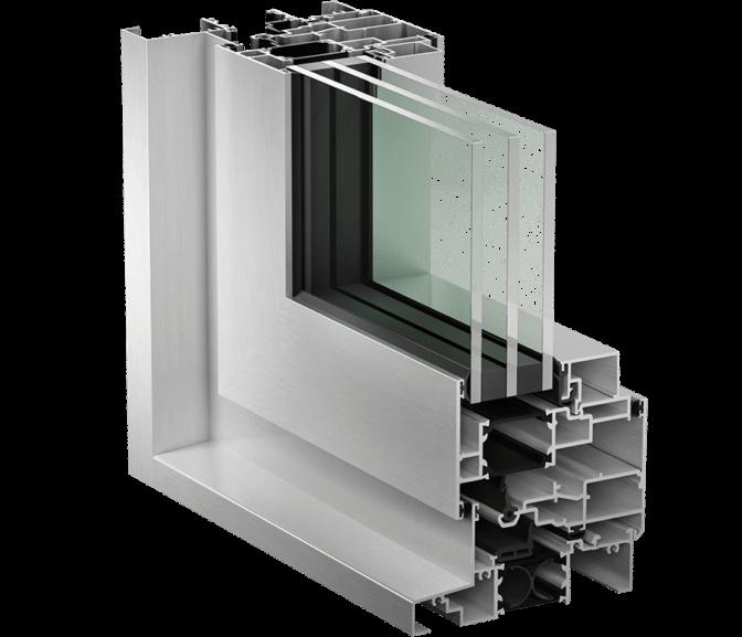 Fenêtres à ouverture extérieure de la série 1300HPT (Haute performance thermique)